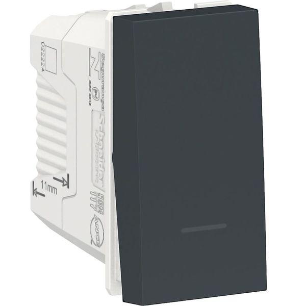 Interruptor sencillo 10a color grafito