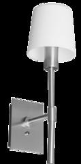 Luminario para sobreponer muro incandescente 1x40w e14 color blanco